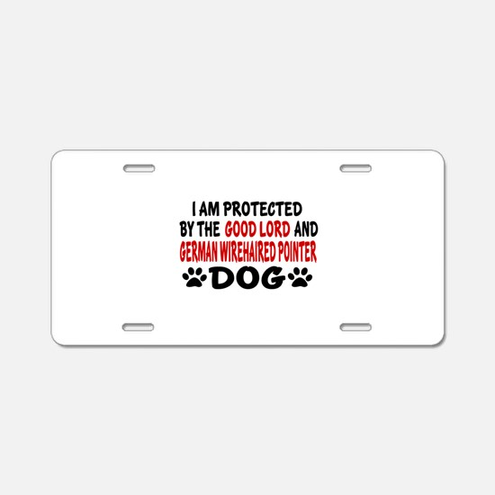 Protected By German Wirehai Aluminum License Plate