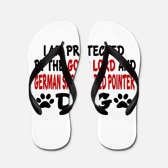 Protected By German shorthaired pointer Flip Flops
