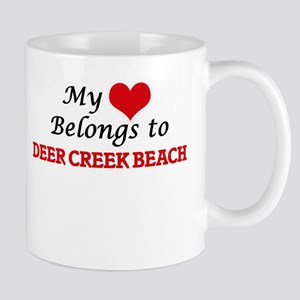 My Heart Belongs to Deer Creek Beach Californ Mugs