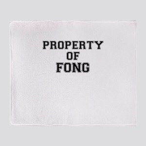 Property of FONG Throw Blanket