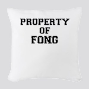 Property of FONG Woven Throw Pillow