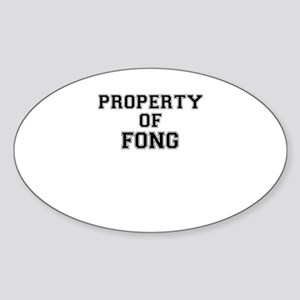 Property of FONG Sticker