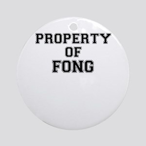 Property of FONG Round Ornament