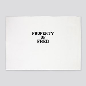 Property of FRED 5'x7'Area Rug
