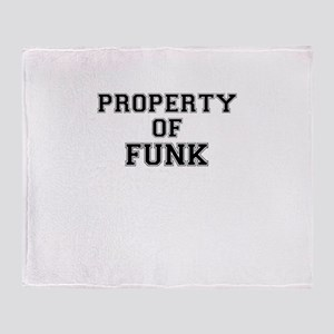 Property of FUNK Throw Blanket