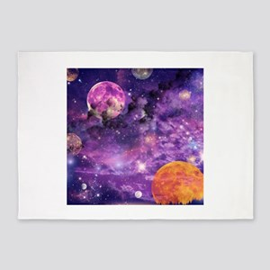 Space - Planets, Moons & Stars 5'x7'Area Rug