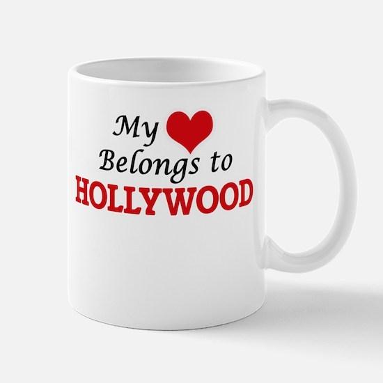 My Heart Belongs to Hollywood New Jersey Mugs