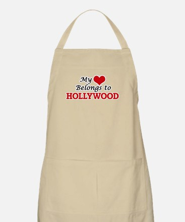 My Heart Belongs to Hollywood New Jersey Apron