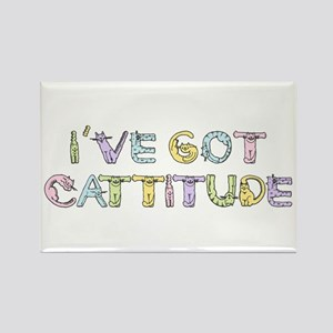 Cattitude Funny Cat Saying Rectangle Magnet
