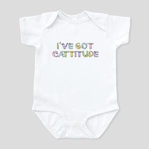 Cattitude Funny Cat Saying Infant Bodysuit