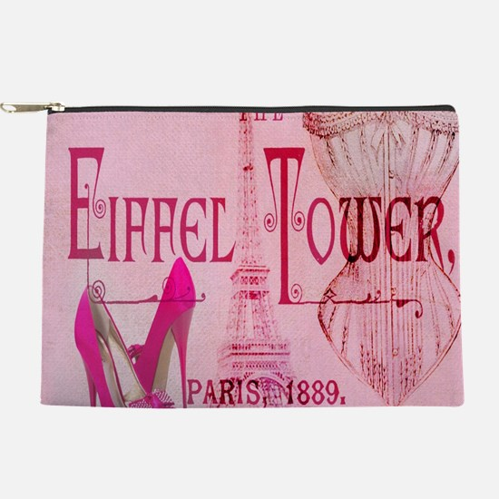 paris eiffel tower pink corset Makeup Bag