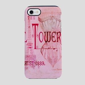paris eiffel tower pink cors iPhone 8/7 Tough Case
