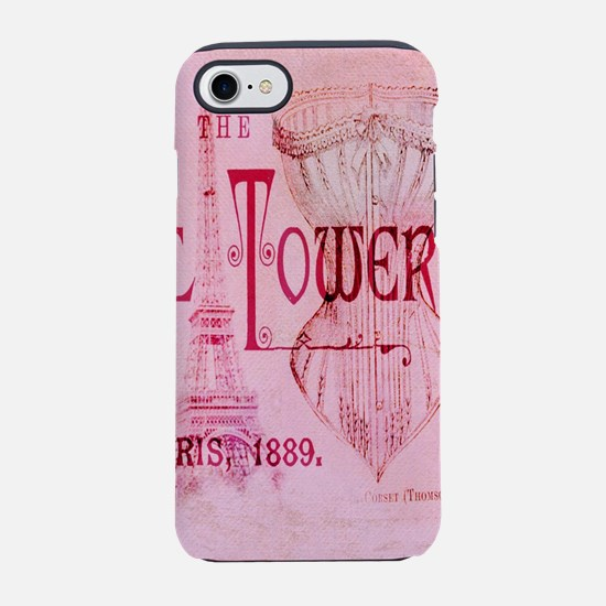 paris eiffel tower pink cors iPhone 8/7 Tough Case