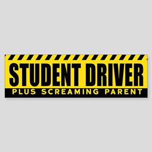 Student Driver : Plus Screaming Par Bumper Sticker