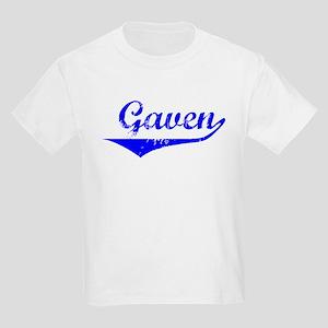 Gaven Vintage (Blue) Kids Light T-Shirt