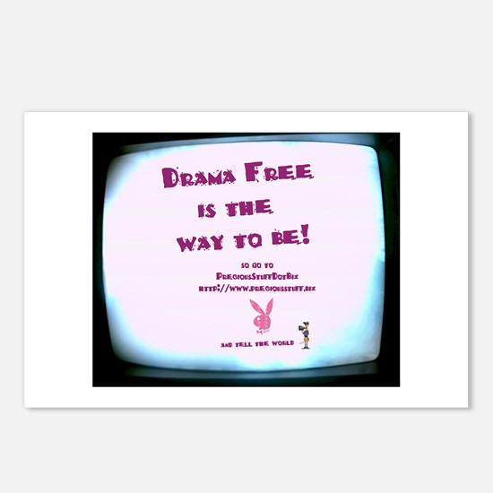 Drama Free is the way Postcards (Package of 8)