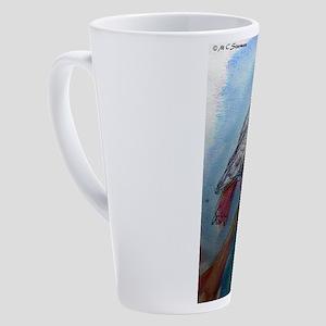 African Grey! Parrot! 17 oz Latte Mug