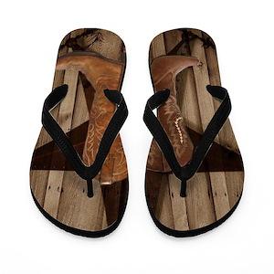 ae3c49a92e6089 Cowgirl Flip Flops - CafePress