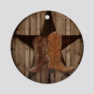 texas western country cowgirl Round Ornament