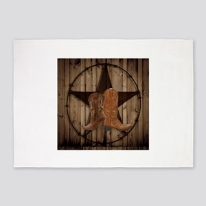 texas western country cowgirl 5'x7'Area Rug