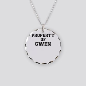 Property of GWEN Necklace Circle Charm