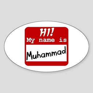 Named Muhammad Oval Sticker