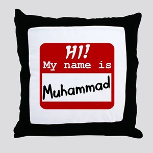 Named Muhammad Throw Pillow