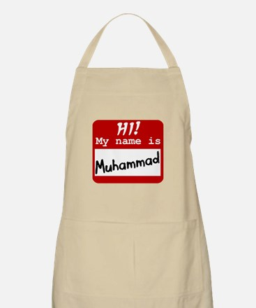 Named Muhammad BBQ Apron