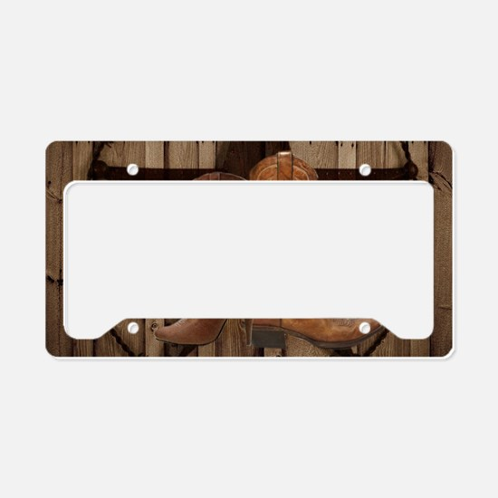 texas western country cowgirl License Plate Holder