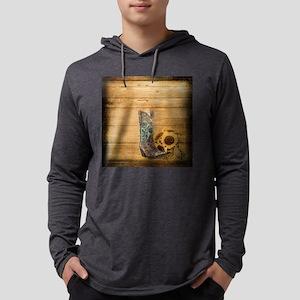 western cowboy sunflower Long Sleeve T-Shirt
