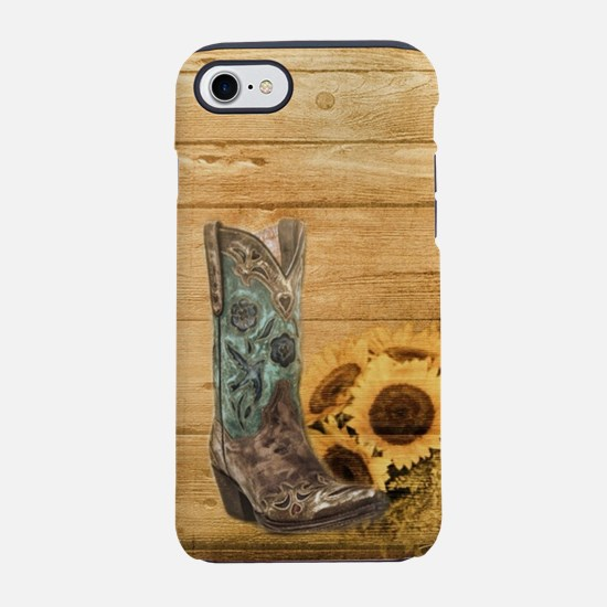 western cowboy barnwood sunf iPhone 8/7 Tough Case