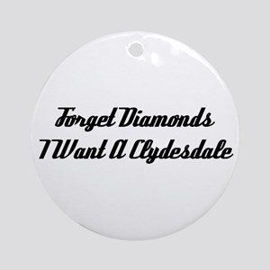Clydesdales or Diamonds Ornament (Round)