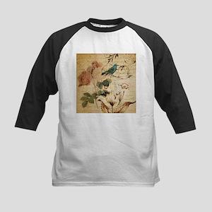 rose bird french botanical Baseball Jersey