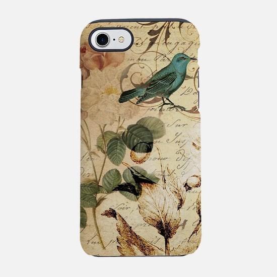 rose bird french botanical iPhone 8/7 Tough Case