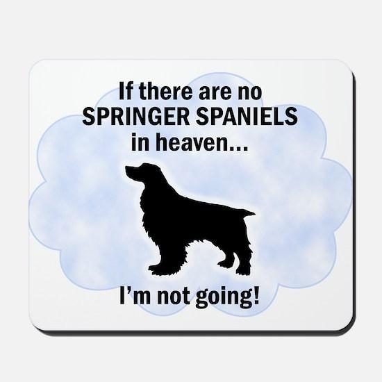 Welsh Springer Spaniels In Heaven Mousepad