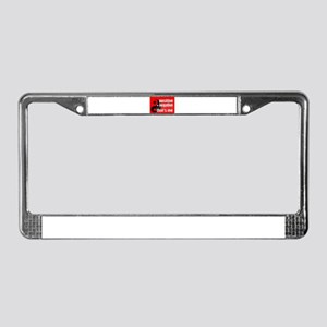 Red Positive + Negative License Plate Frame