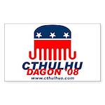 Cthulhu/Dagon'08 Rectangle Sticker