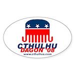 Cthulhu/Dagon'08 Oval Sticker