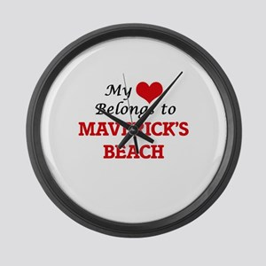 My Heart Belongs to Maverick'S Be Large Wall Clock