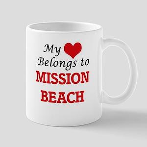 My Heart Belongs to Mission Beach California Mugs