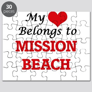 My Heart Belongs to Mission Beach Californi Puzzle
