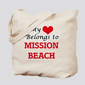 My Heart Belongs to Mission Beach Califor Tote Bag