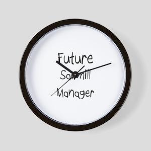 Future Sawmill Manager Wall Clock