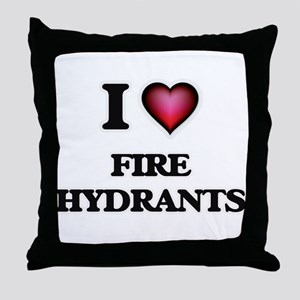 I love Fire Hydrants Throw Pillow