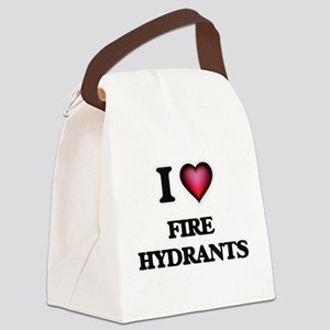 I love Fire Hydrants Canvas Lunch Bag