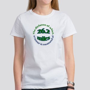 Women's T-Shirt- front & back marathon runner T