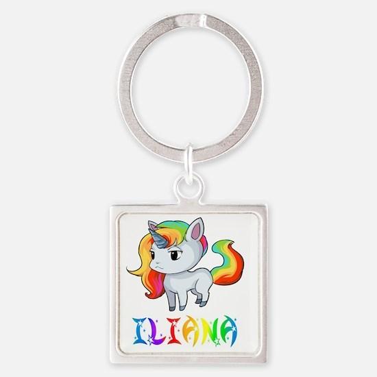 Cute Iliana Square Keychain