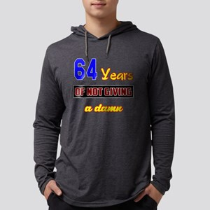64 Years of not giving a damn Mens Hooded Shirt