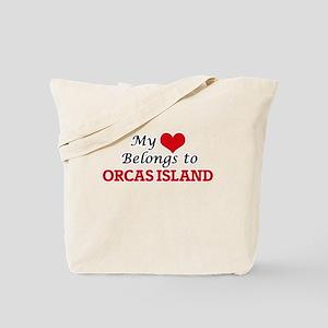 My Heart Belongs to Orcas Island Washingt Tote Bag