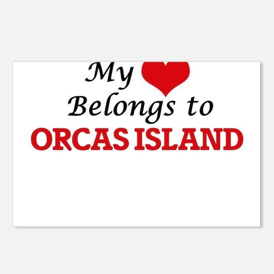 My Heart Belongs to Orcas Postcards (Package of 8)